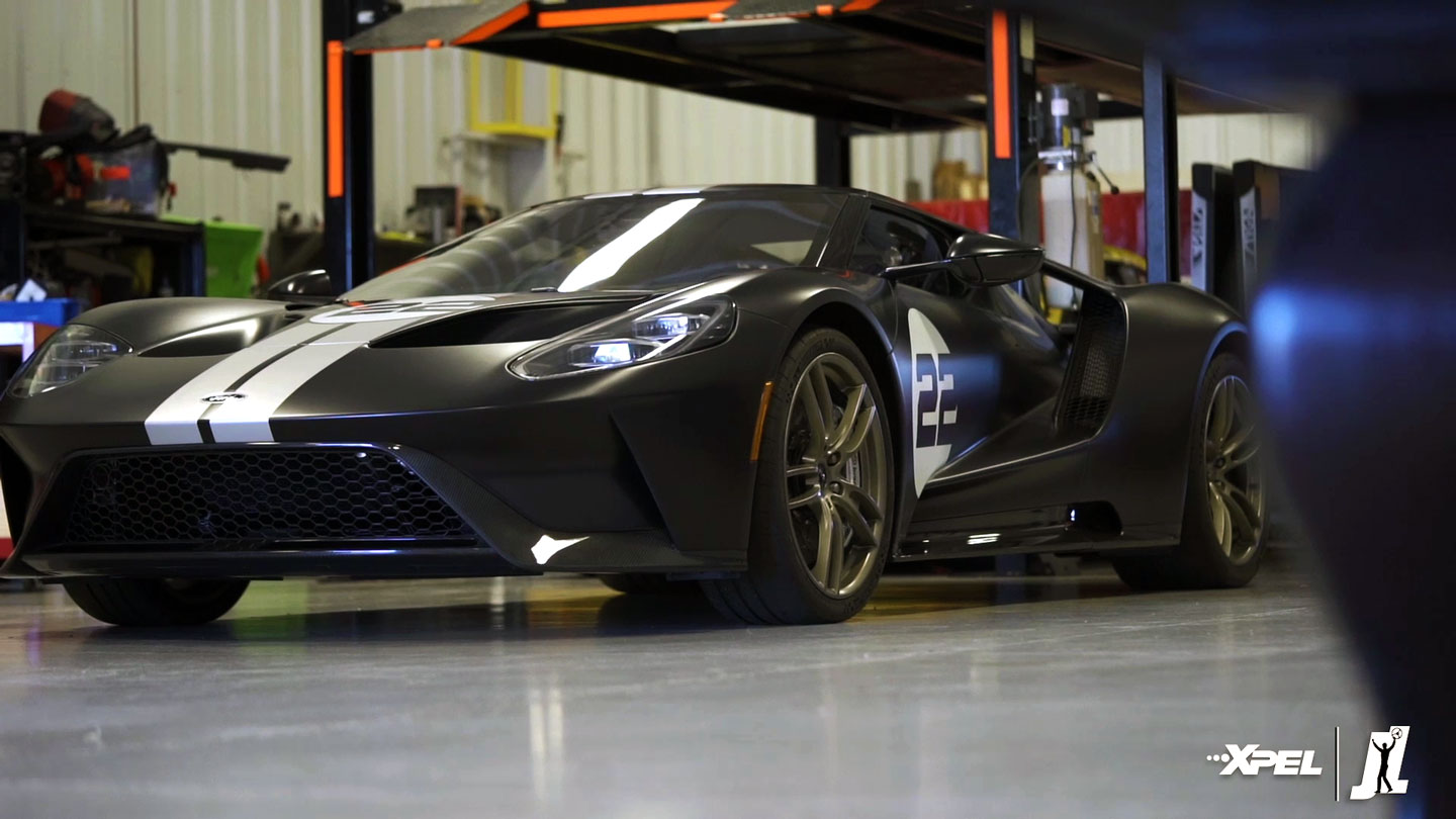Joey Logano - Ford GT tinted with XPEL PRIME XR PLUS Window Tint