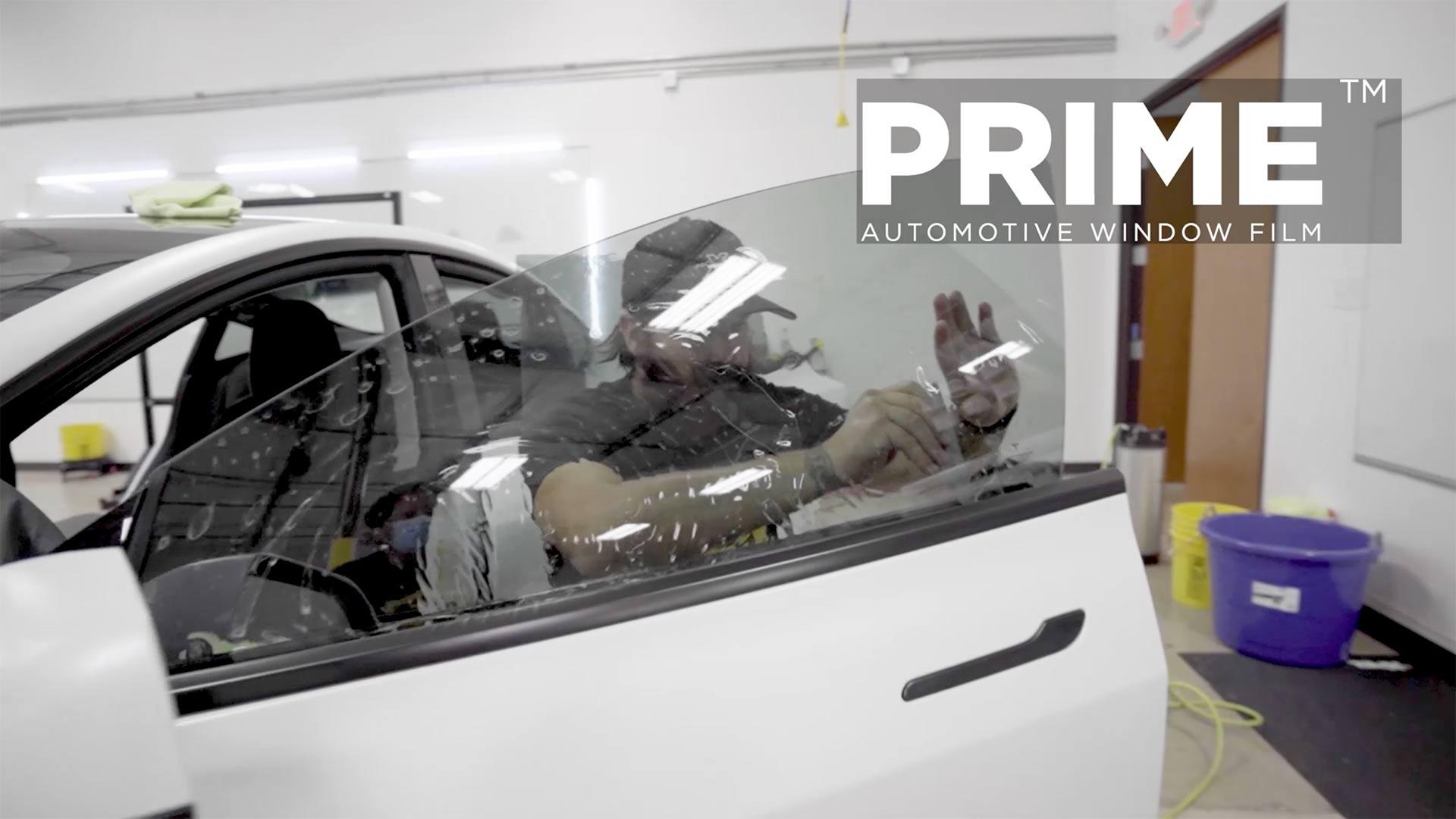 PRIME XR PLUS Window Tint install on Tesla Model 3