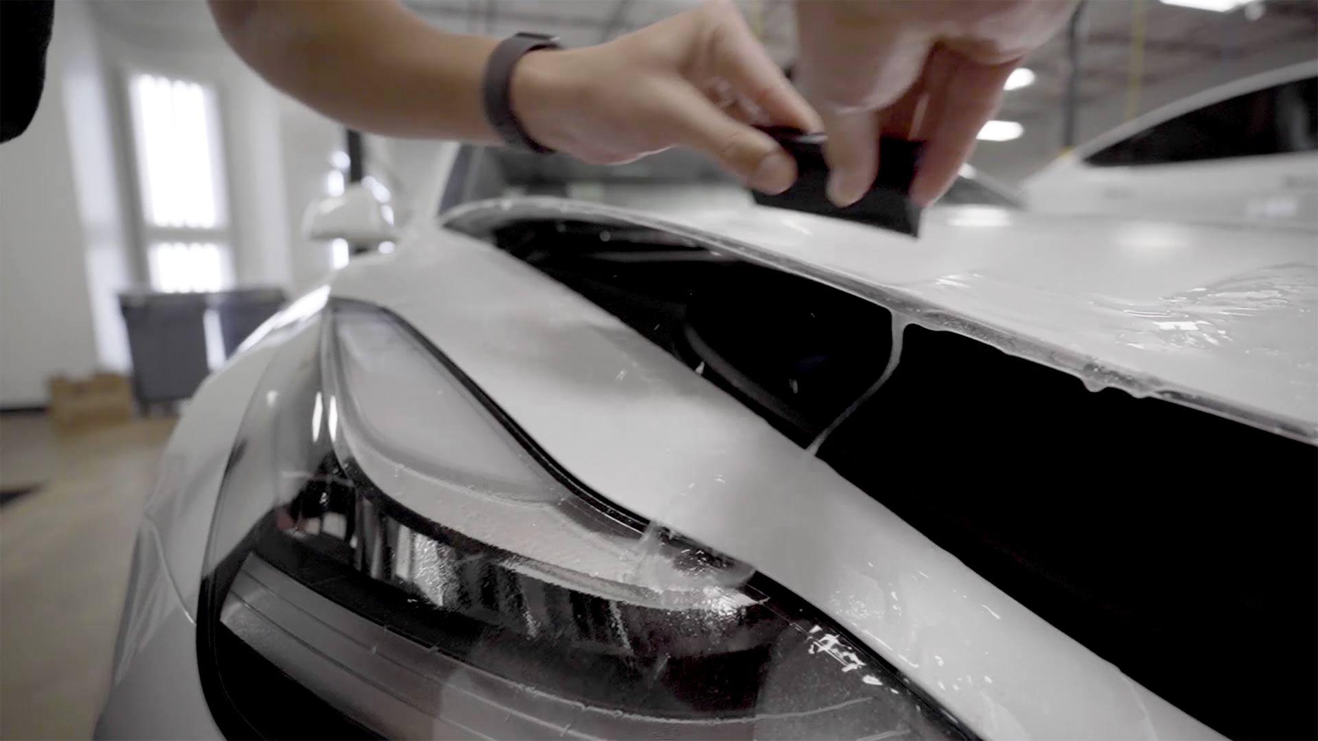 STEALTH PPF install on Tesla Model 3