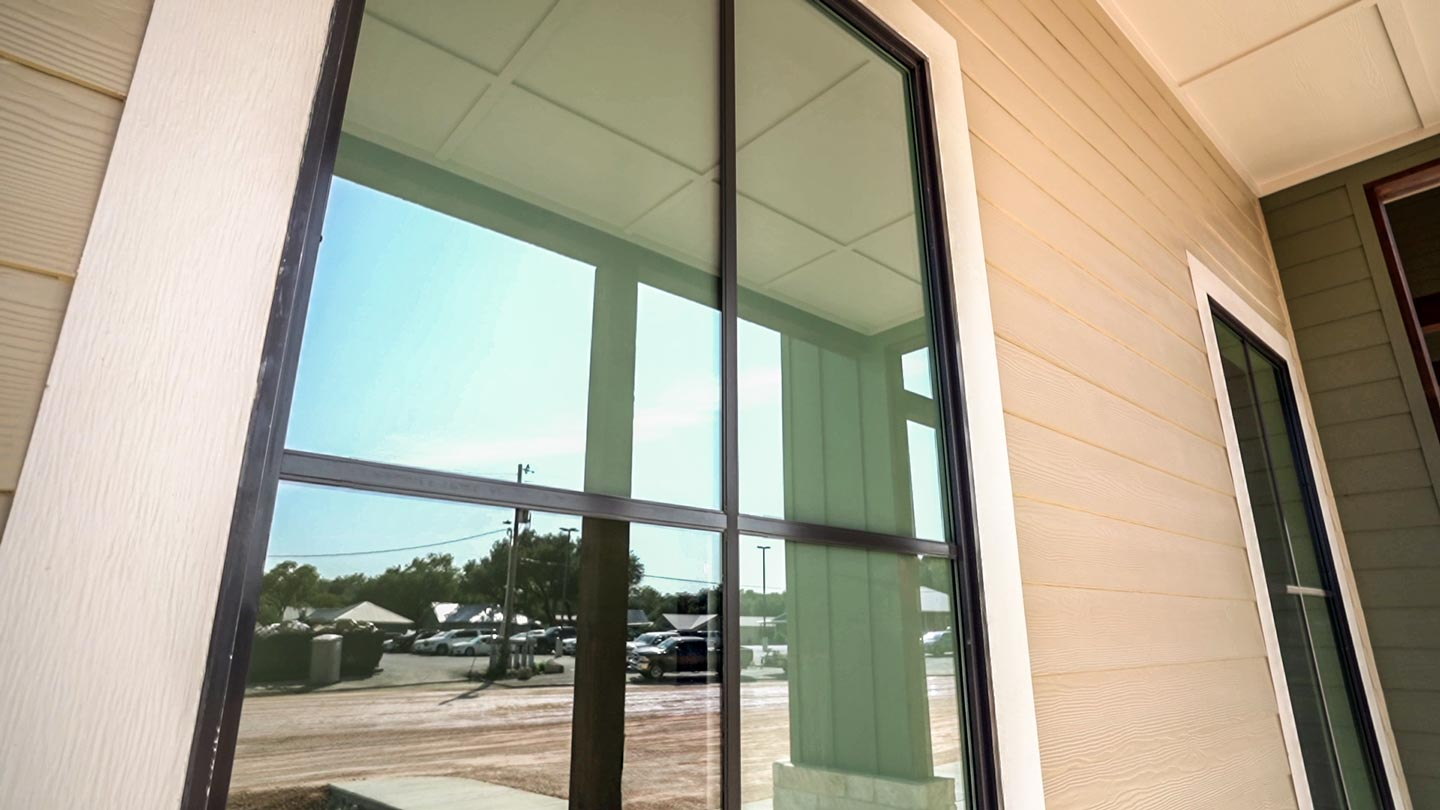 VISION Home & Office Window Film - White Frost adds privacy to a bathroom