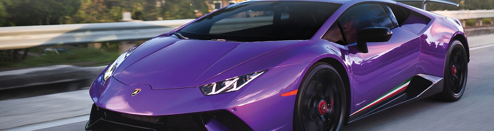 XPEL PRIME Window Tint on a purple Lamborghini