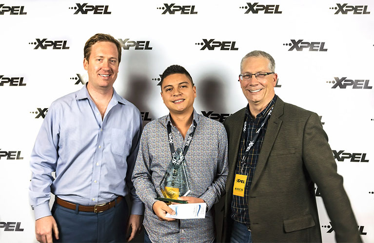 XPEL Dealer Conference 3rd Place Window Film / Window Tint Winner: Juan Botia of Elite Tint