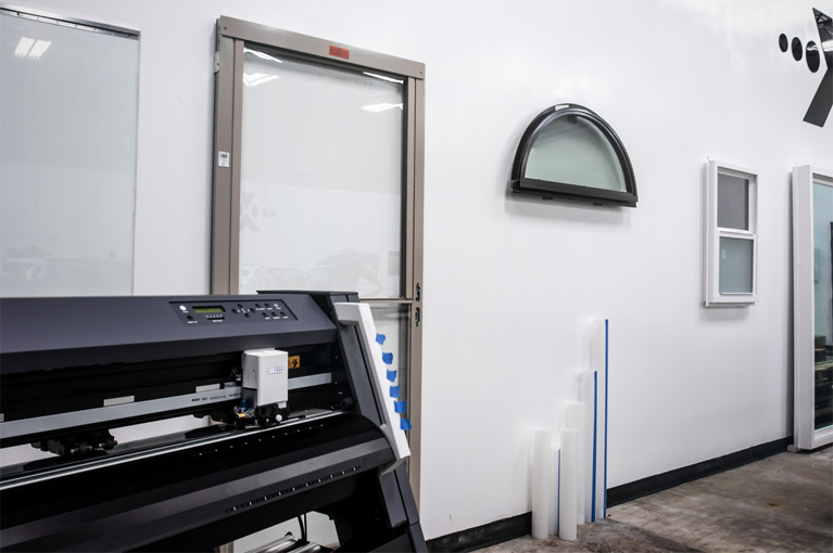 XPEL Window Film Install Training Stands in the classroom
